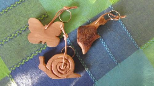 Portachiavi in legno di betulla